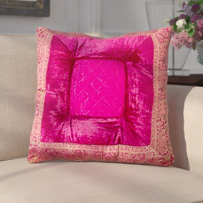Encina Silk Throw Pillow Color: Fuchsia