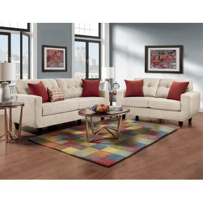 Castiglia Tufted 2 Piece Living Room Set