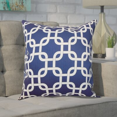 Sessums 100% Cotton Throw Pillow Color: Blue Twill, Size: 18 H x 18 W