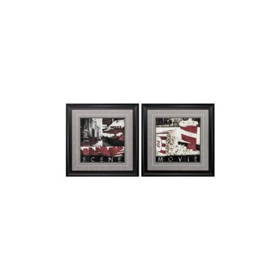 'Scene Movie' 2 Piece Framed Graphic Art Print Set 29077125DA544ACB8F93368F69341C23