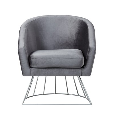 Hirano Barrel Accent Chair Upholstery: Gray/Silver