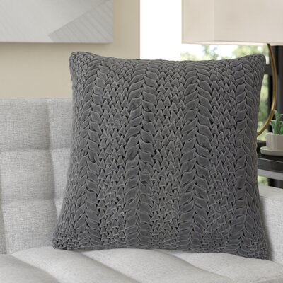 Stoney Littleton 100% Cotton Throw Pillow Size: 18 H x 18 W, Color: Pewter, Filler: Polyester
