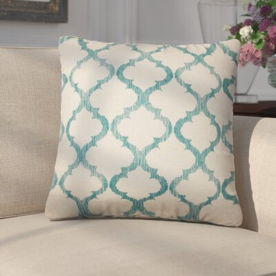 Griselde Geometric Cotton Throw Pillow Color: Teal