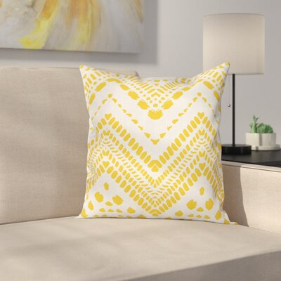 Chevron Tribal African Square Cushion Pillow Cover Size: 20 x 20
