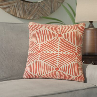 Tricia Geometric Cotton Throw Pillow Color: Pink