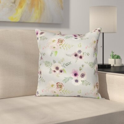 Anemone Shabby Bridal Square Cushion Pillow Cover Size: 20