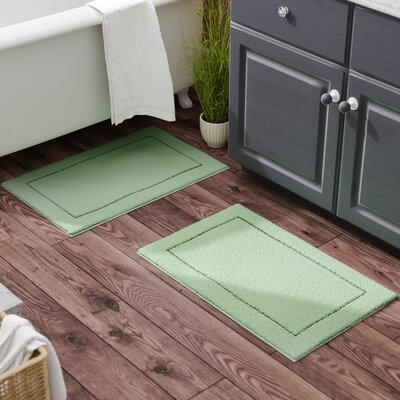 Raelene Bath Rug Set Color: Aqua