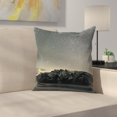 Luke Gram Lake Minnewanka Alberta Throw Pillow Size: 14 x 14