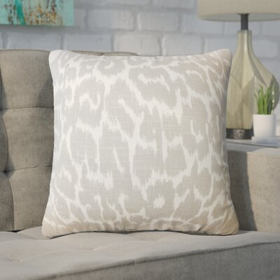 Wetzler Ikat Down Filled Linen Throw Pillow Size: 22 x 22, Color: Mineral
