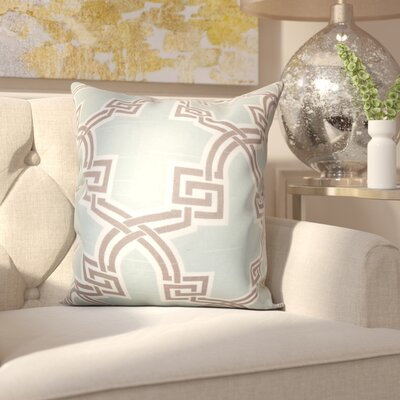 Lawler Geometric Throw Pillow Color: Blue, Size: 20 x 20