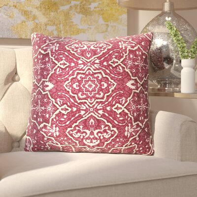 Kalista Throw Pillow Size: 20 H x 20 W x 4 D, Color: Burgundy