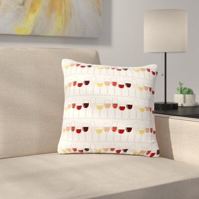 Fine Wines Outdoor Throw Pillow Size: 16
