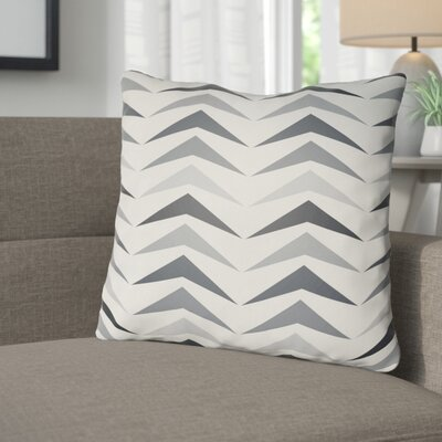 Wakefield Contemporary Square Throw Pillow Size: 18 H x 18 W x 4 D, Color: Grey