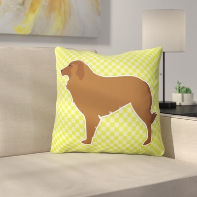Portuguese Shepherd Indoor/Outdoor Throw Pillow Size: 18 H x 18 W x 3 D, Color: Green