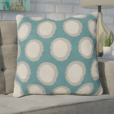 Mcelhaney Linen Throw Pillow Color: Teal