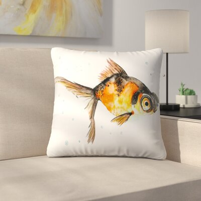 Fancy Goldfish Throw Pillow Size: 18 x 18