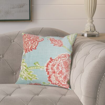 Monegro Linen Throw Pillow Color: Aqua, Size: 24 x 24