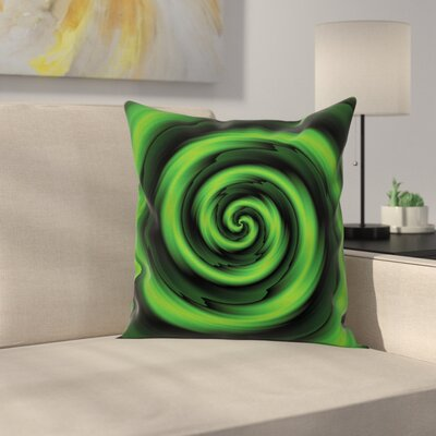 Abstract Spirals Artsy Square Pillow Cover Size: 18 x 18