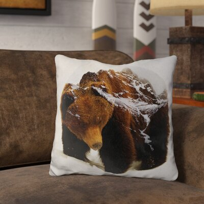 Lemanski Bear in the Mountains Throw Pillow