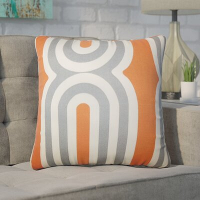 Wojtowicz Geometric Cotton Throw Pillow Color: Orange