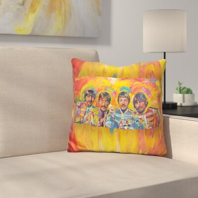 Beatles Sgt Peppers Throw Pillow