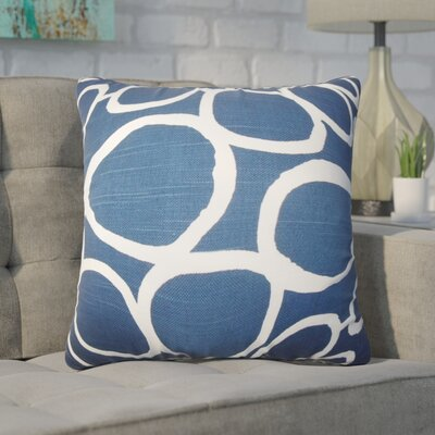 Woodlynne Geometric Cotton Throw Pillow Color: Blue