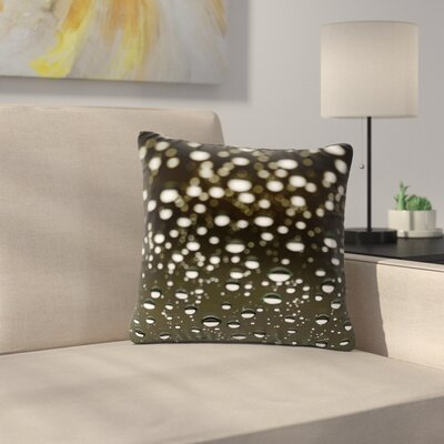 Kristi Jackson Rain Bokeh Outdoor Throw Pillow Size: 16 H x 16 W x 5 D