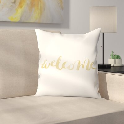 Jetty Printables Welcome Typography Throw Pillow Size: 20 x 20