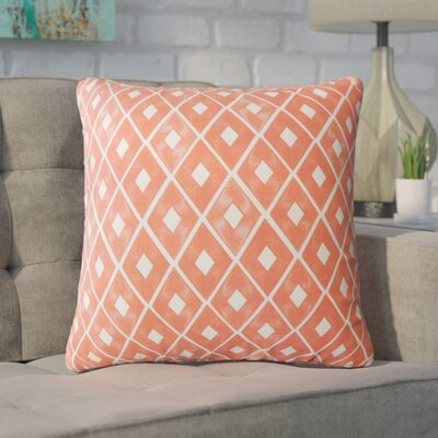 Wiesner Geometric Down Filled 100% Cotton Throw Pillow Size: 18 x 18, Color: White