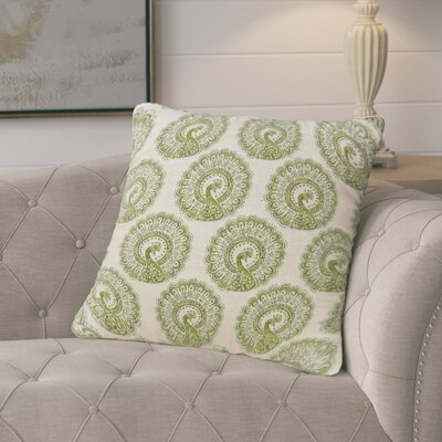 Turton Contemporary Throw Pillow Color: Green, Size: 18 x 18