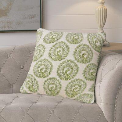 Turton Contemporary Throw Pillow Color: Green, Size: 22 x 22