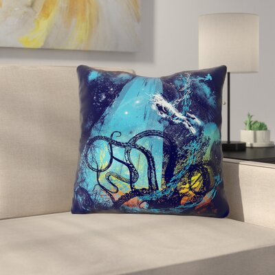 Danger from the Deep by Frederic Levy-Hadida Throw Pillow Size: 26 H x 26 W x 5 D