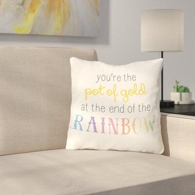 Ann Pot of Gold Throw Pillow Size: 18 H x 18 W x 3 D