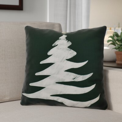 Decorative Holiday Print Throw Pillow Size: 20 H x 20 W, Color: Dark Green