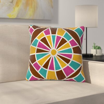 Nacho Filella Eyes Digital Outdoor Throw Pillow Size: 18 H x 18 W x 5 D