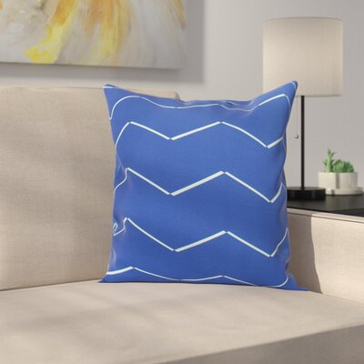 Secrest Throw Pillow Color: Royal Blue, Size: 26 x 26
