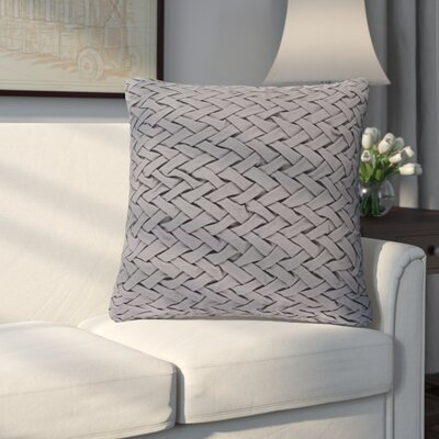 Eastlawn 100% Cotton Throw Pillow Size: 22 H x 22 W x 4 D, Color: Gray