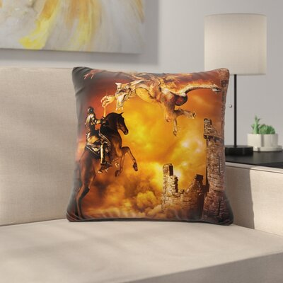 Fairy Tale Pillow Cover Size: 16 x 16