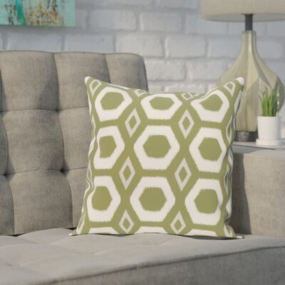 Brockley Geometric Print Throw Pillow Size: 16 H x 16 W x 1 D, Color: Olive