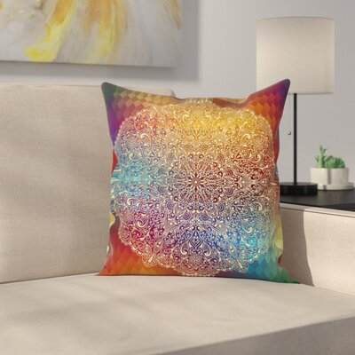Waterproof Graphic Print Pillow Cover Size: 18 x 18