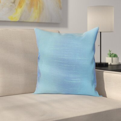 Lindfield Throw Pillow Color: Azure, Size: 18 H x 18  W