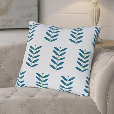 Arnaud Floral Print Outdoor Pillow Color: Teal, Size: 18 H x 18 W x 1 D