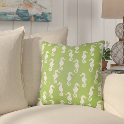 Gerry Sea Indoor/Outdoor Throw Pillow Size: 18 H x 18 W x 3.5 D, Color: Green