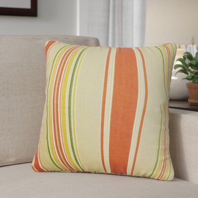 Ashprington Stripes Throw Pillow Cover Size: 18 x 18, Color: Sunset