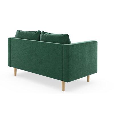 Cozad Mod Velvet Loveseat Upholstery: Silver Gray, Finish: Natural