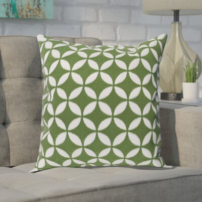 Baur Perimeter 100% Cotton Throw Pillow Cover Size: 18 H x 18 W x 1 D, Color: GreenNeutral
