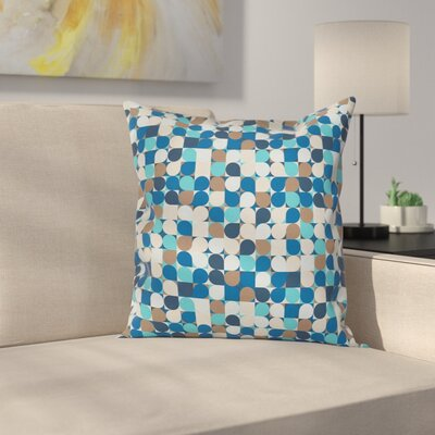 Removable Square Pillow Cover with Zipper Size: 16 x 16