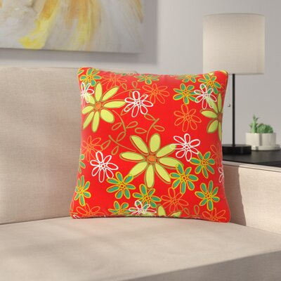 Holly Helgeson Daisy Mae Floral Outdoor Throw Pillow Size: 18 H x 18 W x 5 D