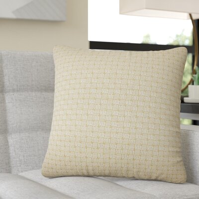Quintanar Geometric Throw Pillow Color: Bamboo