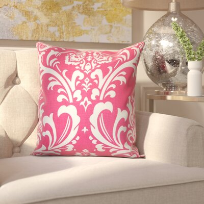Clarabelle 100% Cotton Throw Pillow Color: Candy Pink, Size: 20 x 20